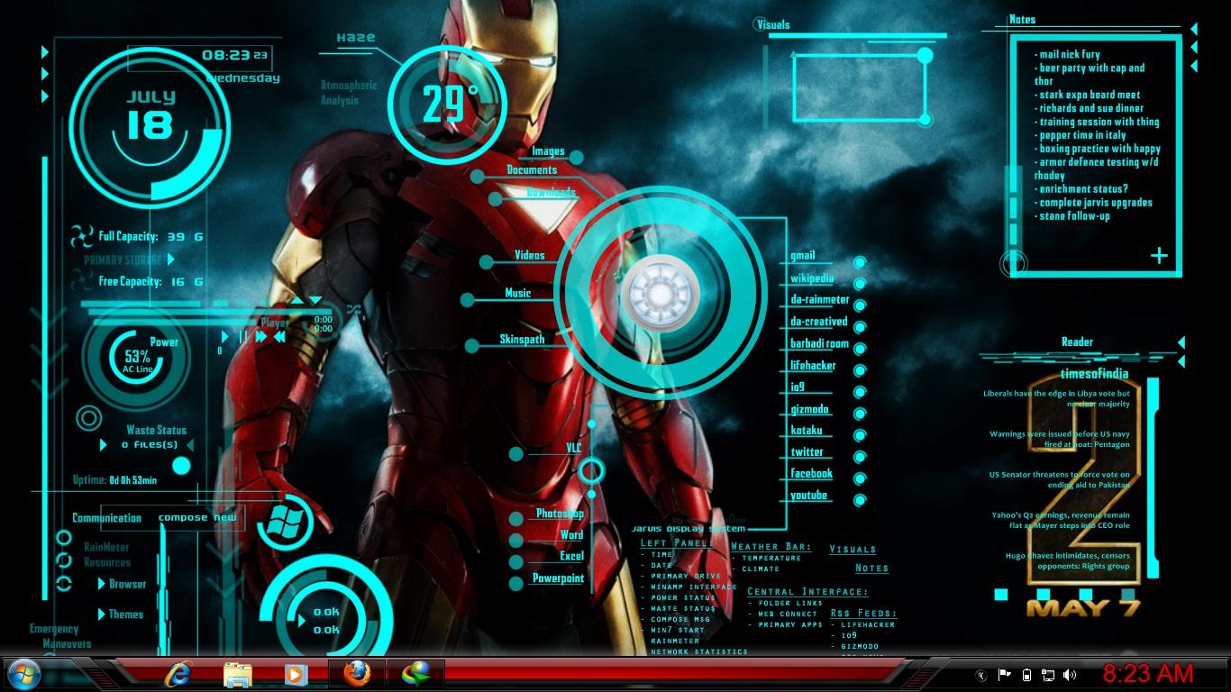 Iron Man Jarvis Wallpaper Background Jarvis Iron Man