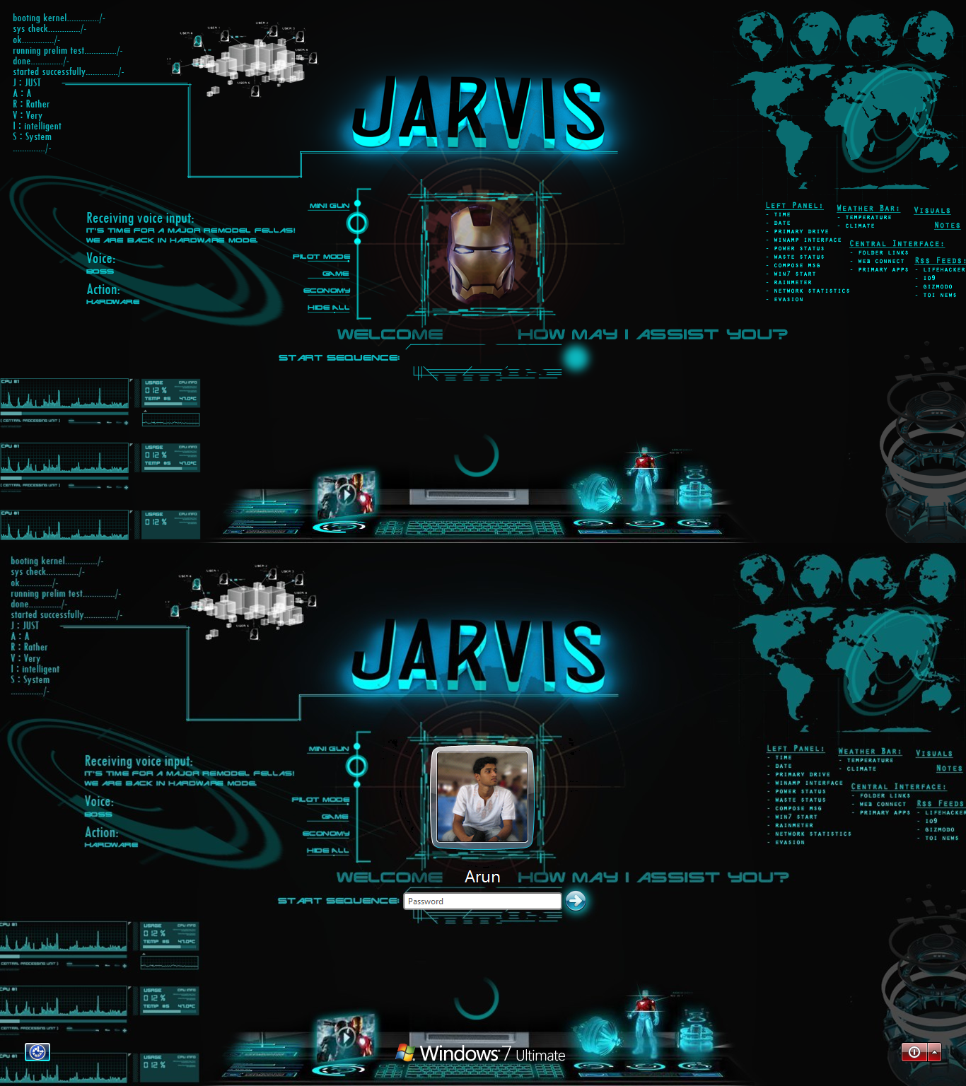Backgrounds S Iron Man Jarvis Screen 464412 Hd Wallpaper