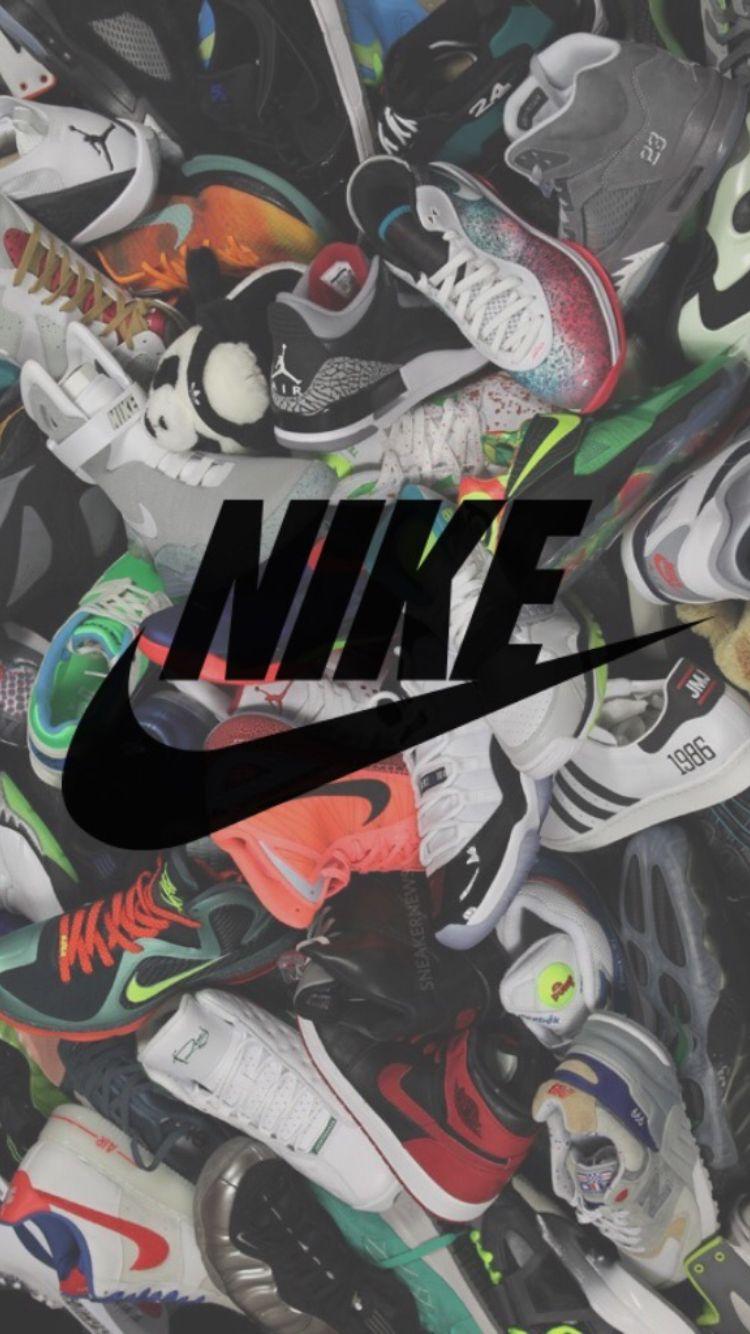 black nike wallpaper shoes