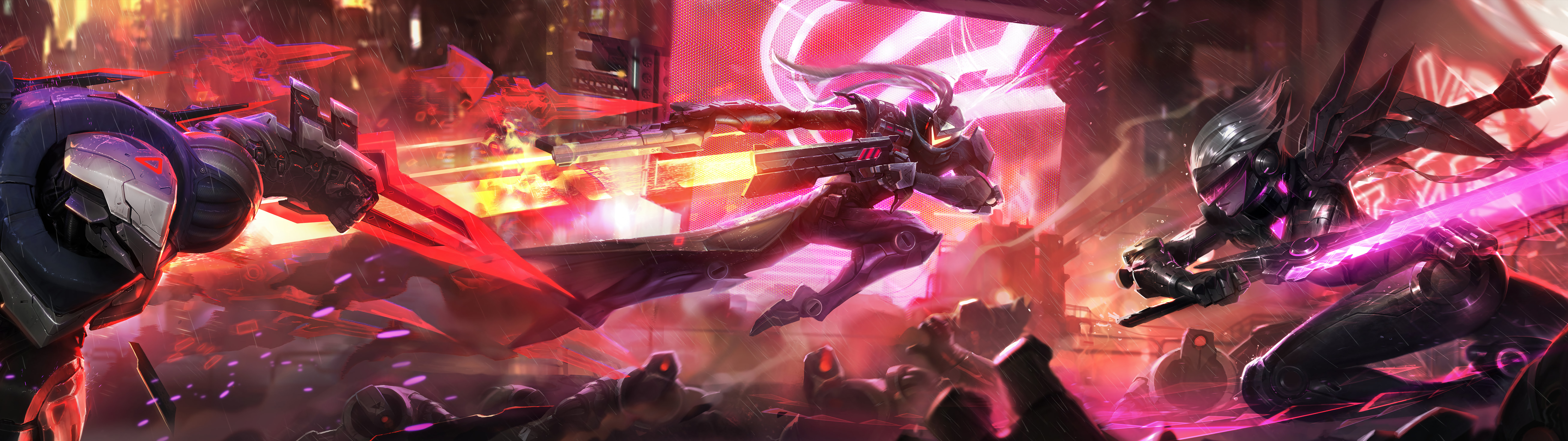 Project Zed Lucian Fiora Hd Wallpaper Background League Of