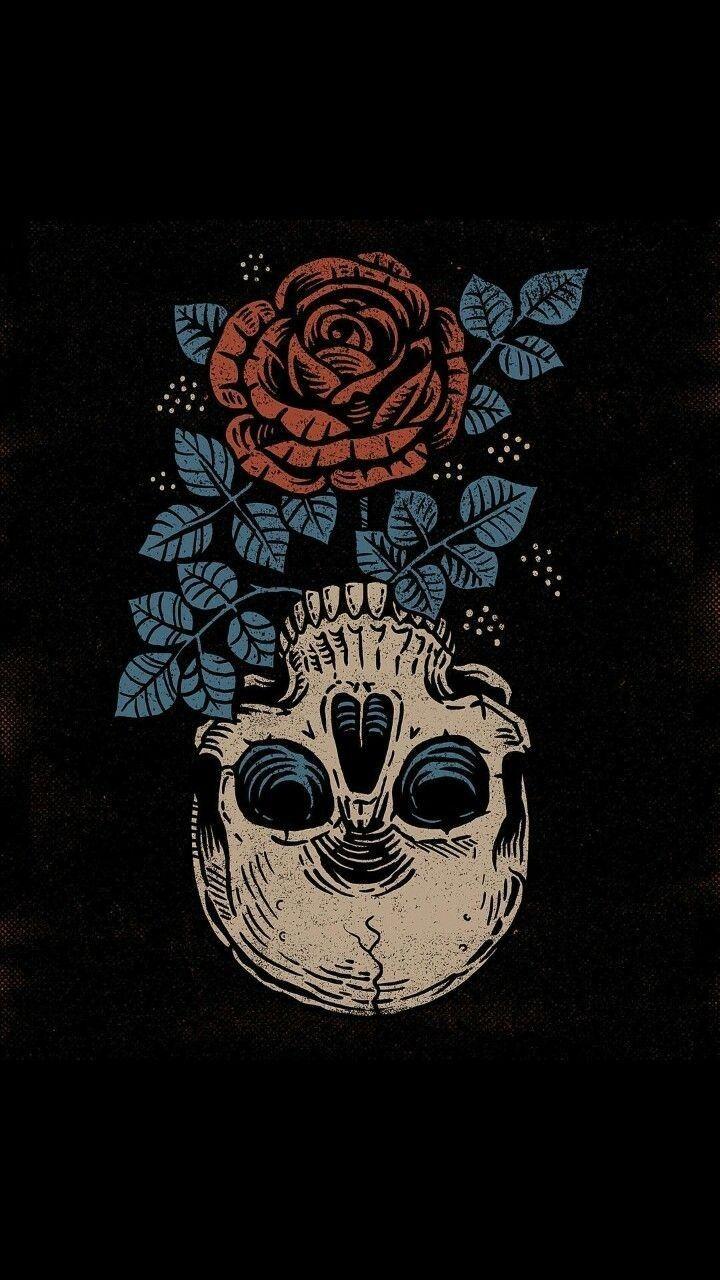 Papel De Parede Caveira, Wallpaper Com Rosas, Tumblr, - Papel De Parede De Caveira , HD Wallpaper & Backgrounds
