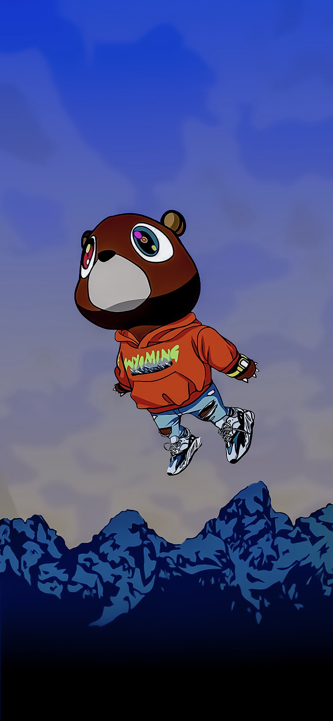 Wyoming Drawing Wallpaper Optimized For 2 1 Phones Kanye West