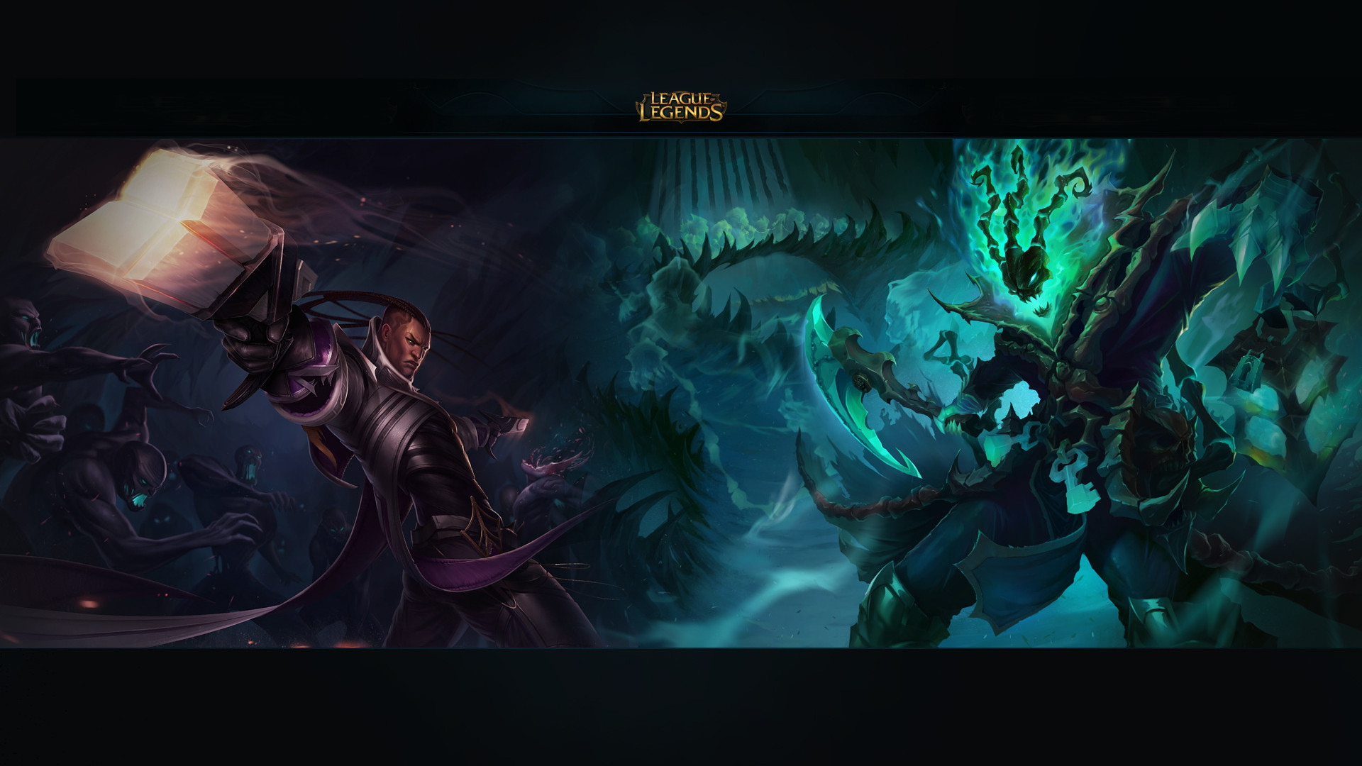 Lucian Vs Tresh Wallpaper League Of Legends Champions Support