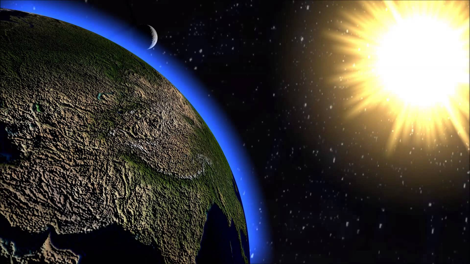 More Wallpaper Collections - Solar System Sun Earth , HD Wallpaper & Backgrounds