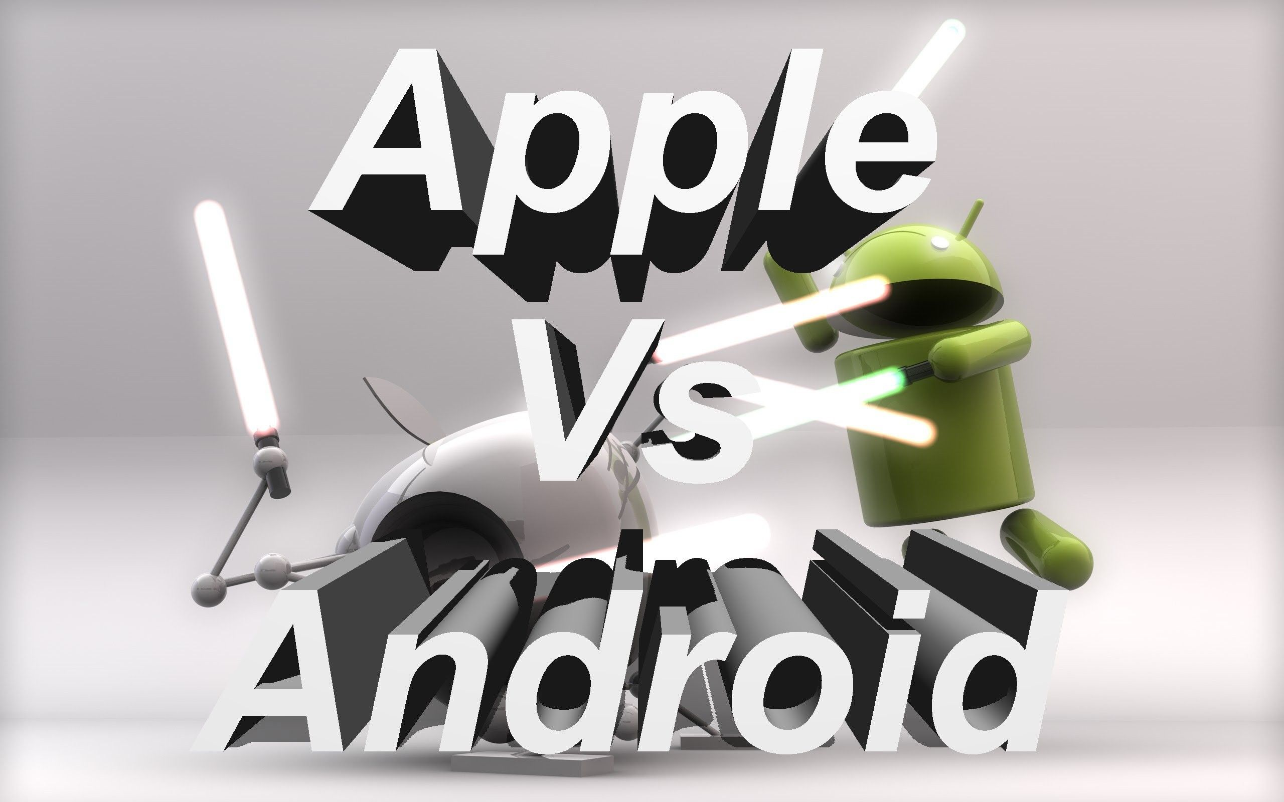 3d Wallpaper Of Android Vs Apple Android Vs Apple 470133