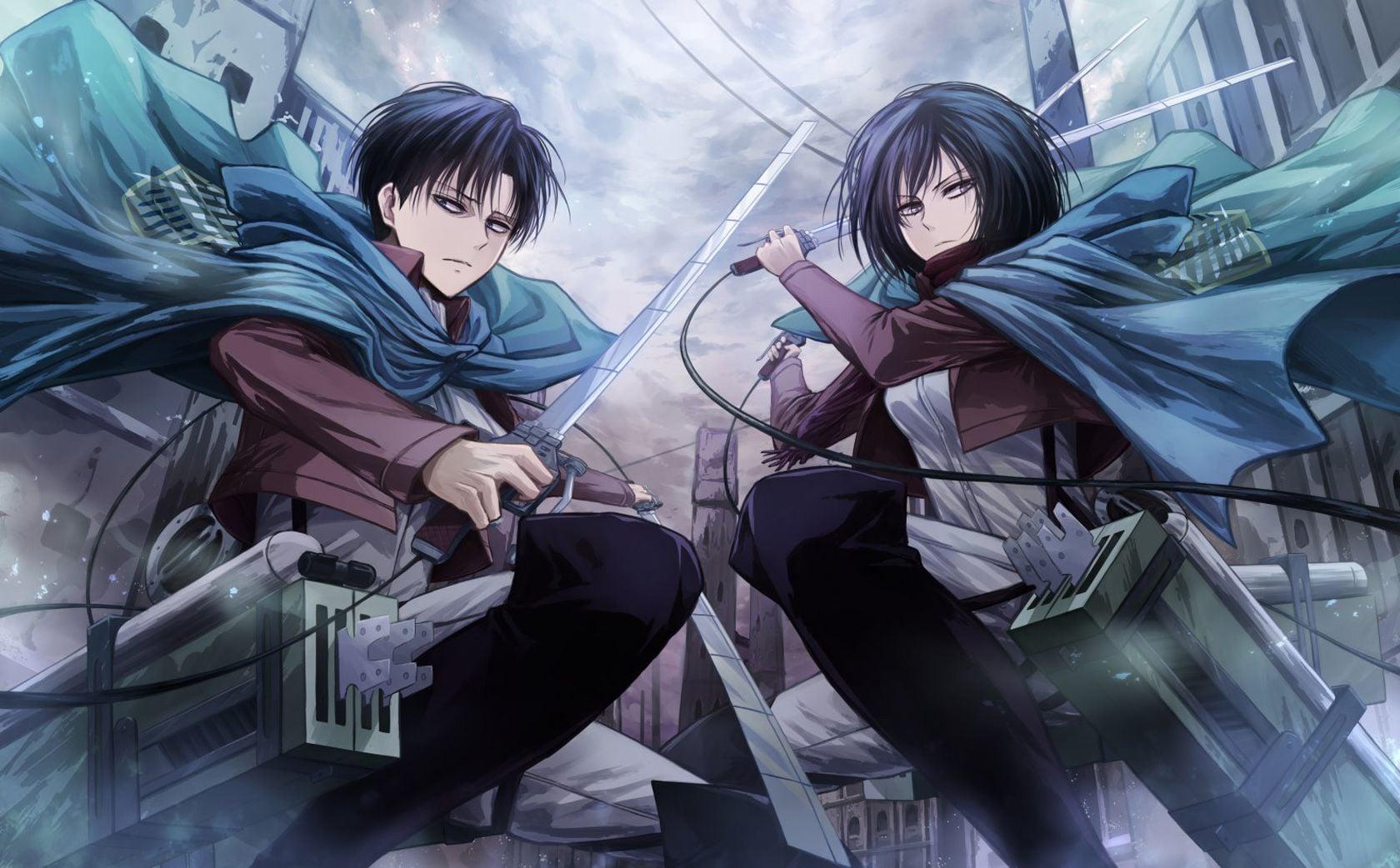 Attack Shingeki No Kyojin Mikasa E Levi 471015 Hd