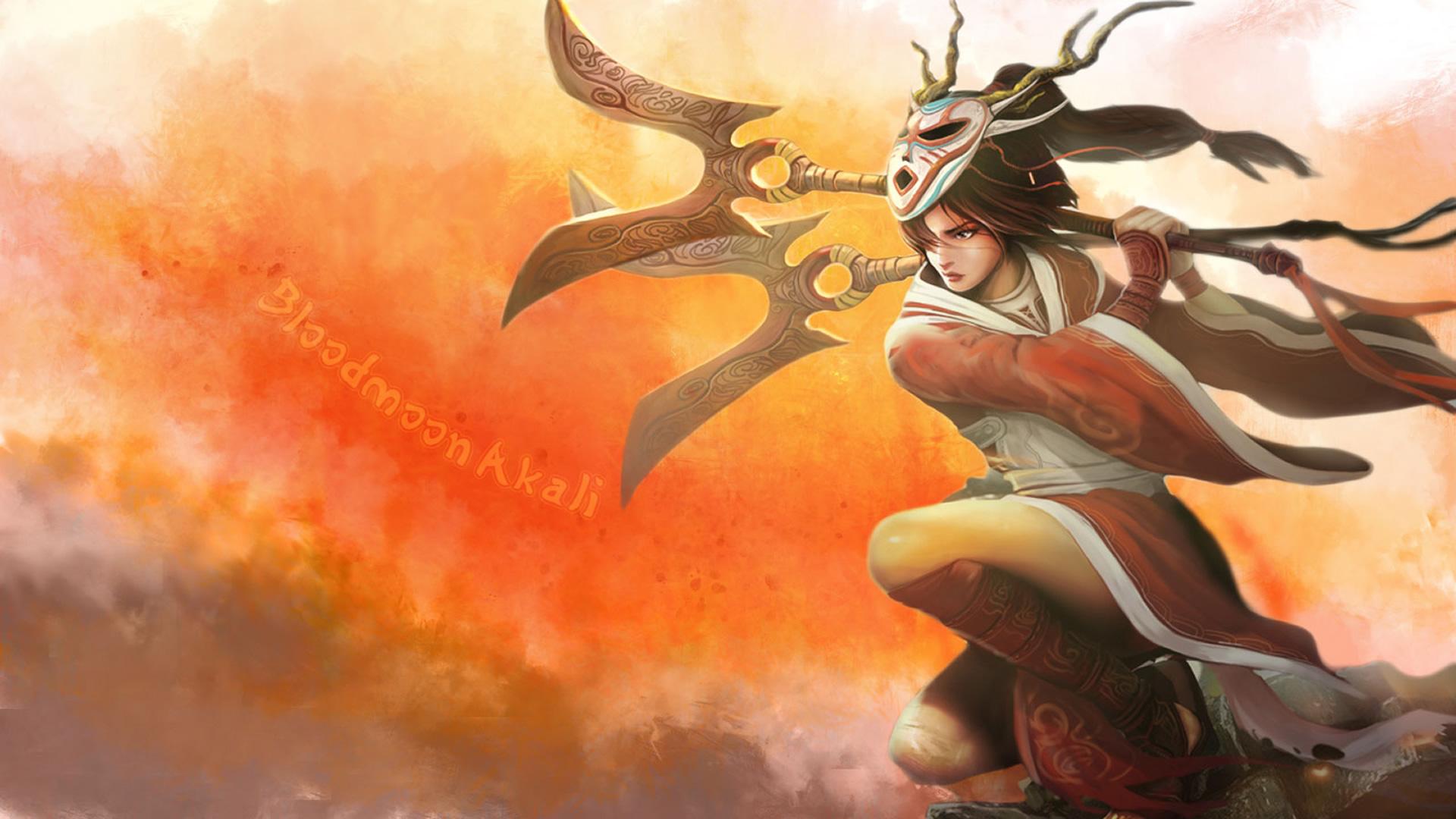 League Of Legends Bloodmoon Akali Fanart - League Of Legends Akali Fan Art , HD Wallpaper & Backgrounds