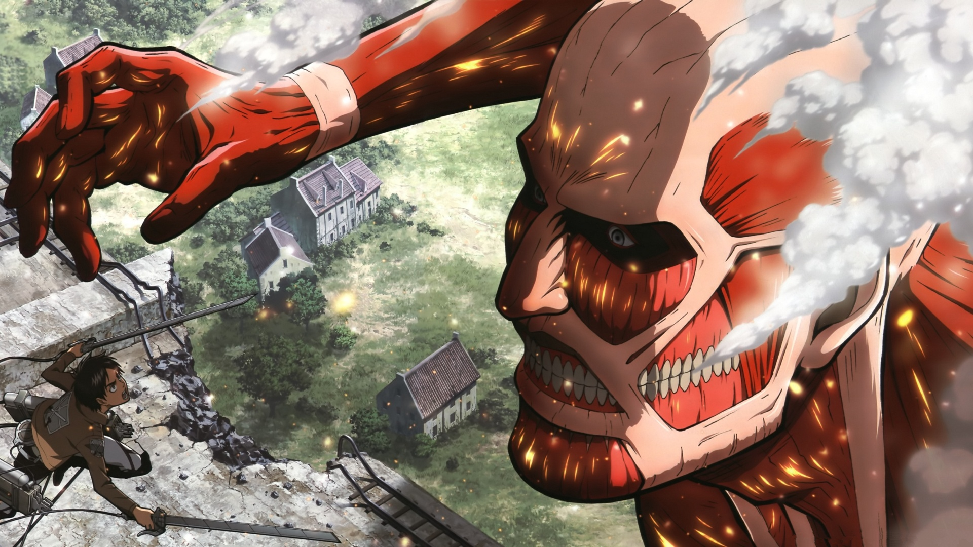 Attack On Titan Background Attack On Titan 473487 Hd Wallpaper Backgrounds Download