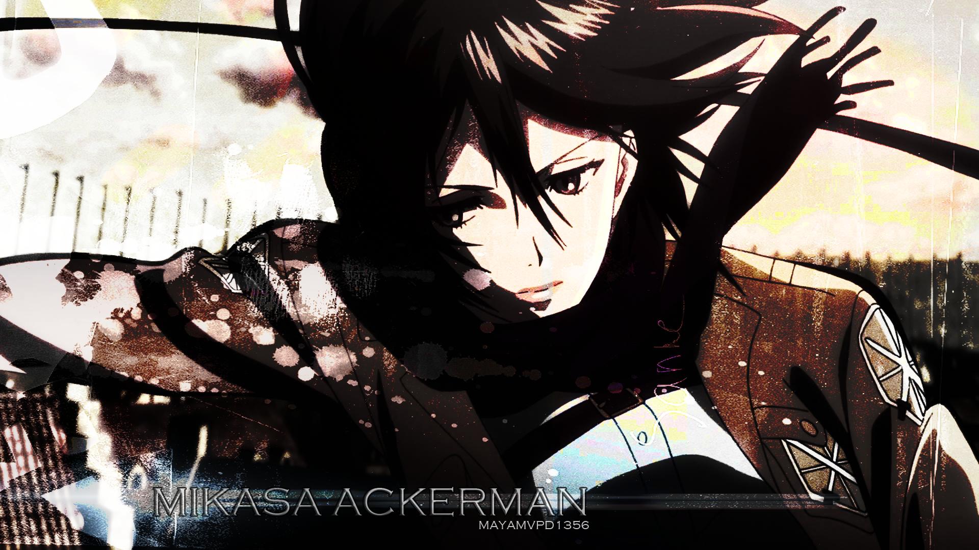 Anime Shingeki No Kyojin Mikasa Ackerman Wallpapers Mikasa Ackerman Hd 473812 Hd Wallpaper Backgrounds Download