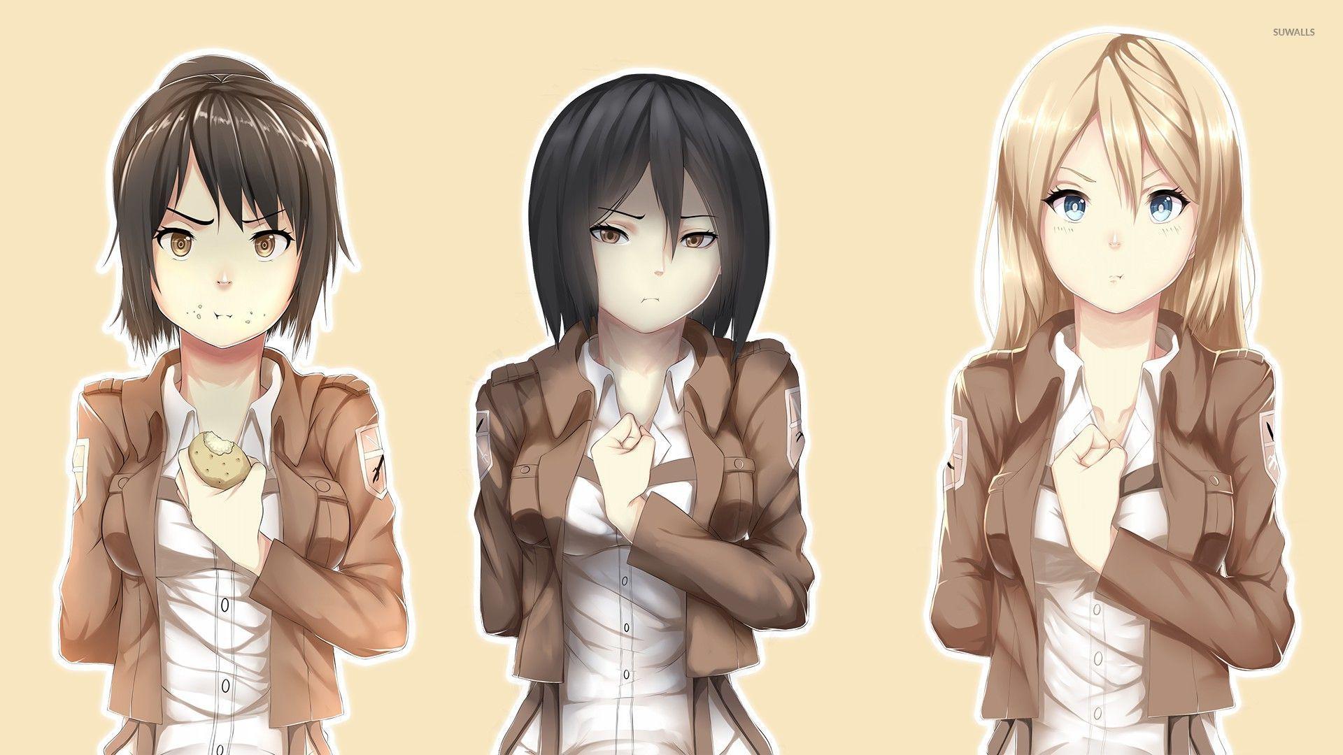 Shingeki No Kyojin Female Characters Wallpaper Shingeki No Kyojin Original Character 473866 Hd Wallpaper Backgrounds Download