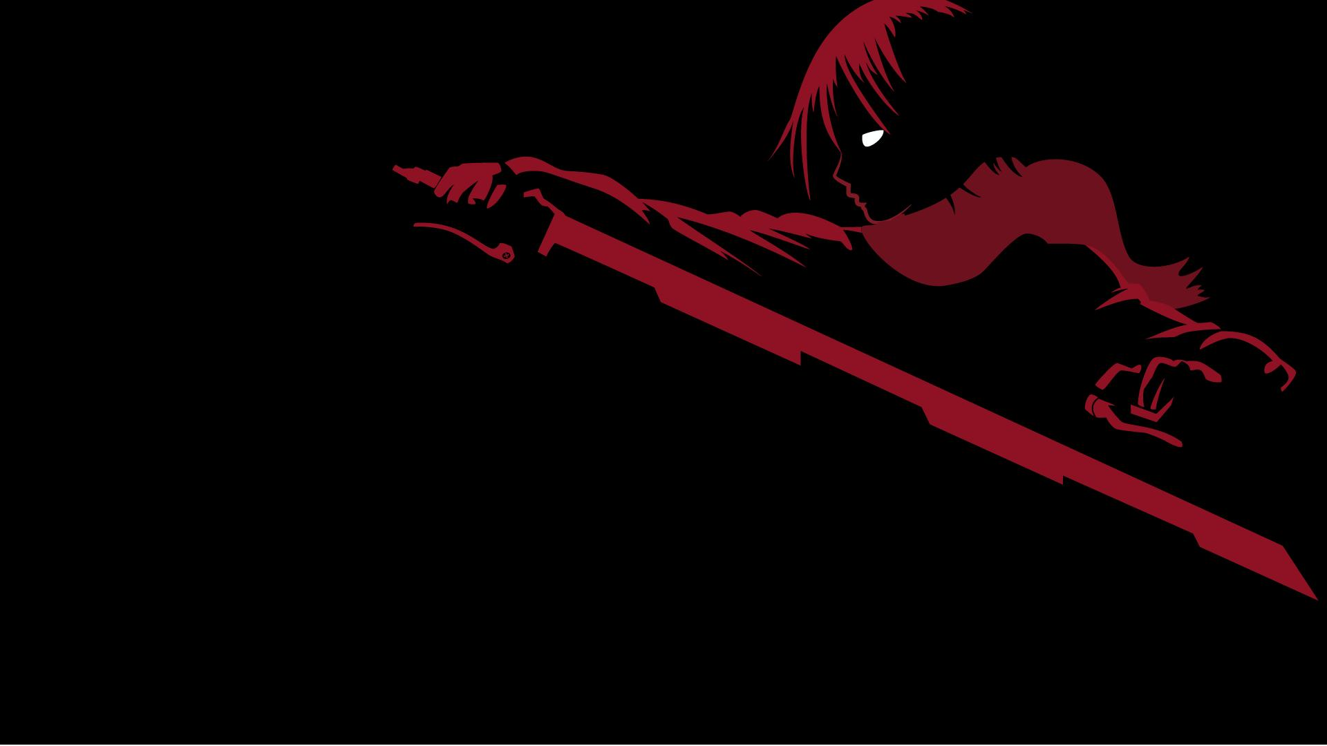 Minimalism Anime Girls Anime Mikasa Ackerman Shingeki