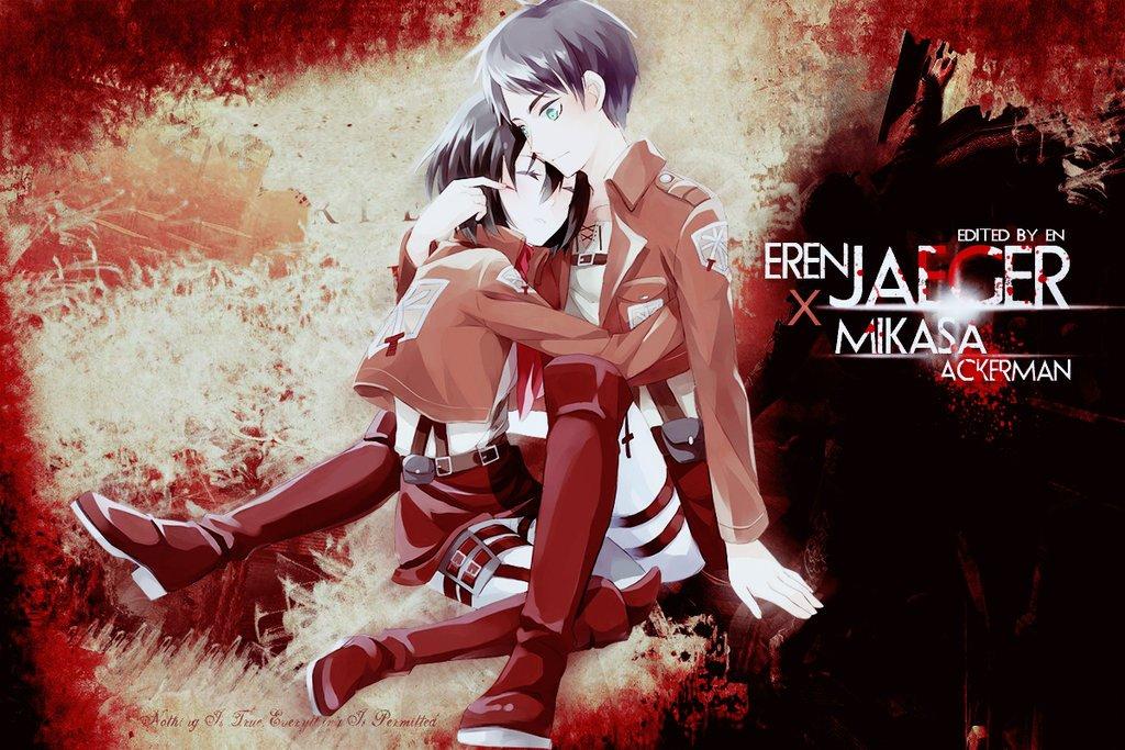Mikasa Wallpaper 4k Eren And Mikasa Wallpaper Hd 473921 Hd Wallpaper Backgrounds Download