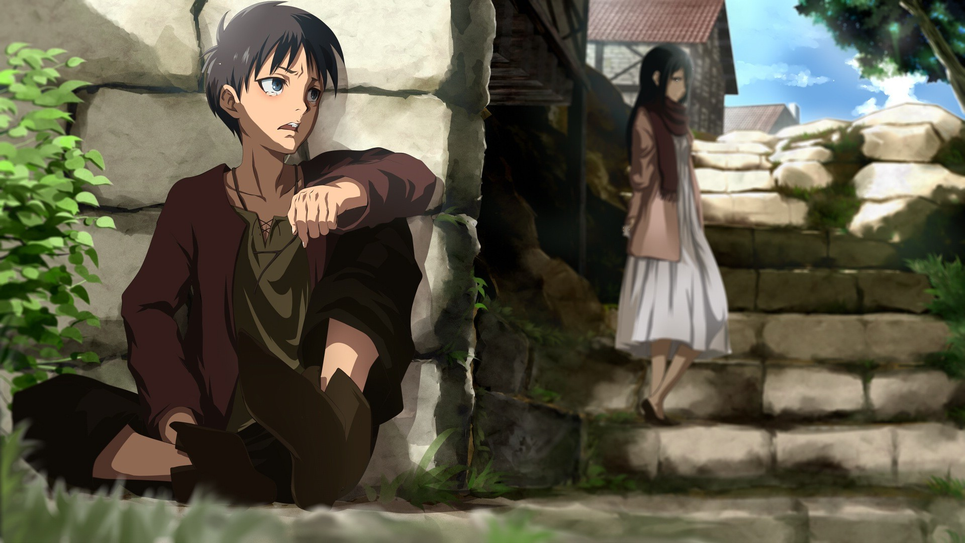 Shingeki No Kyojin Mikasa Ackerman Anime Wallpaper Attack On Titan Eren Love Mikasa 474450 Hd Wallpaper Backgrounds Download