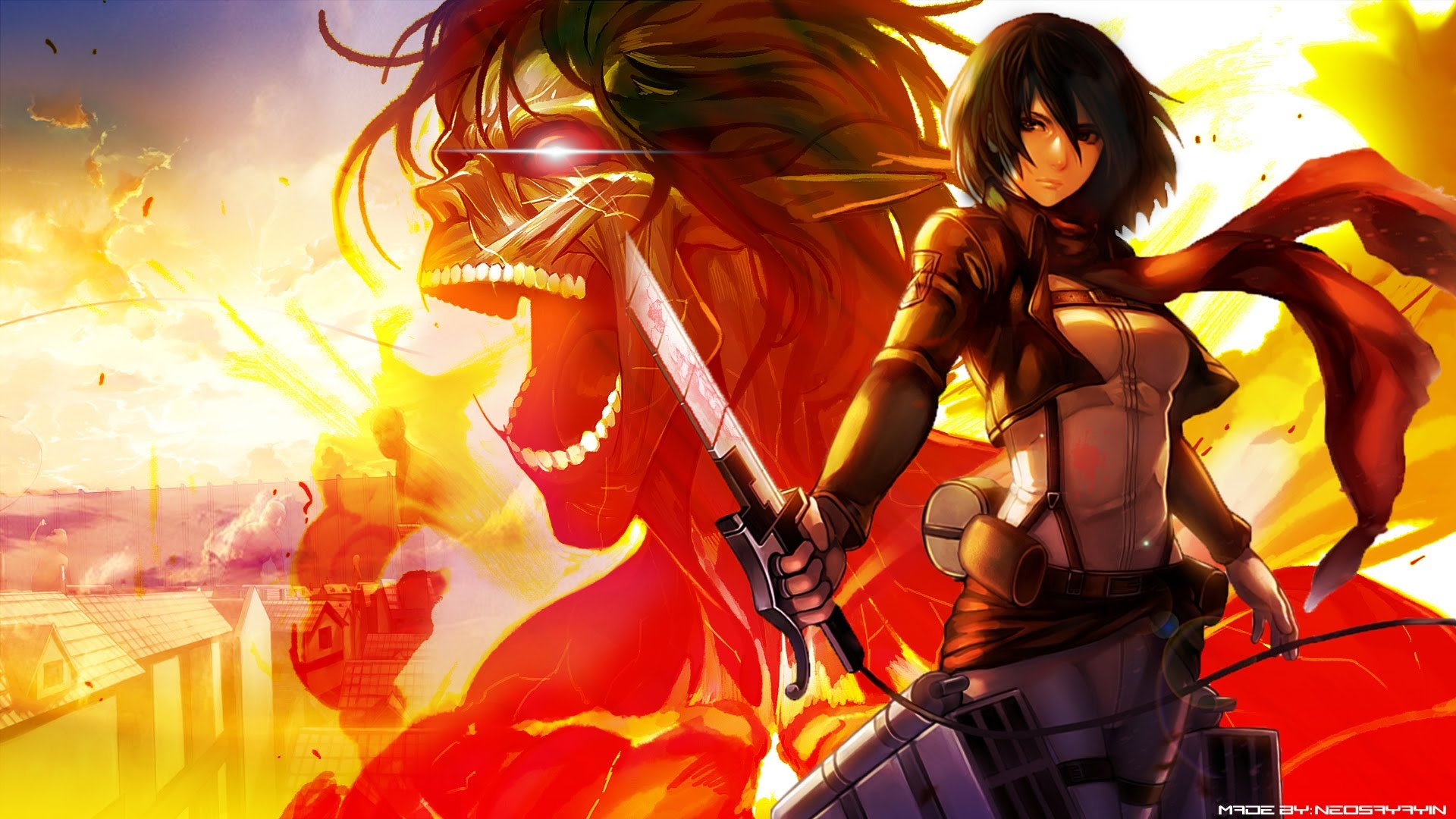 Attack On Titan Wallpaper Mikasa 474974 Hd Wallpaper