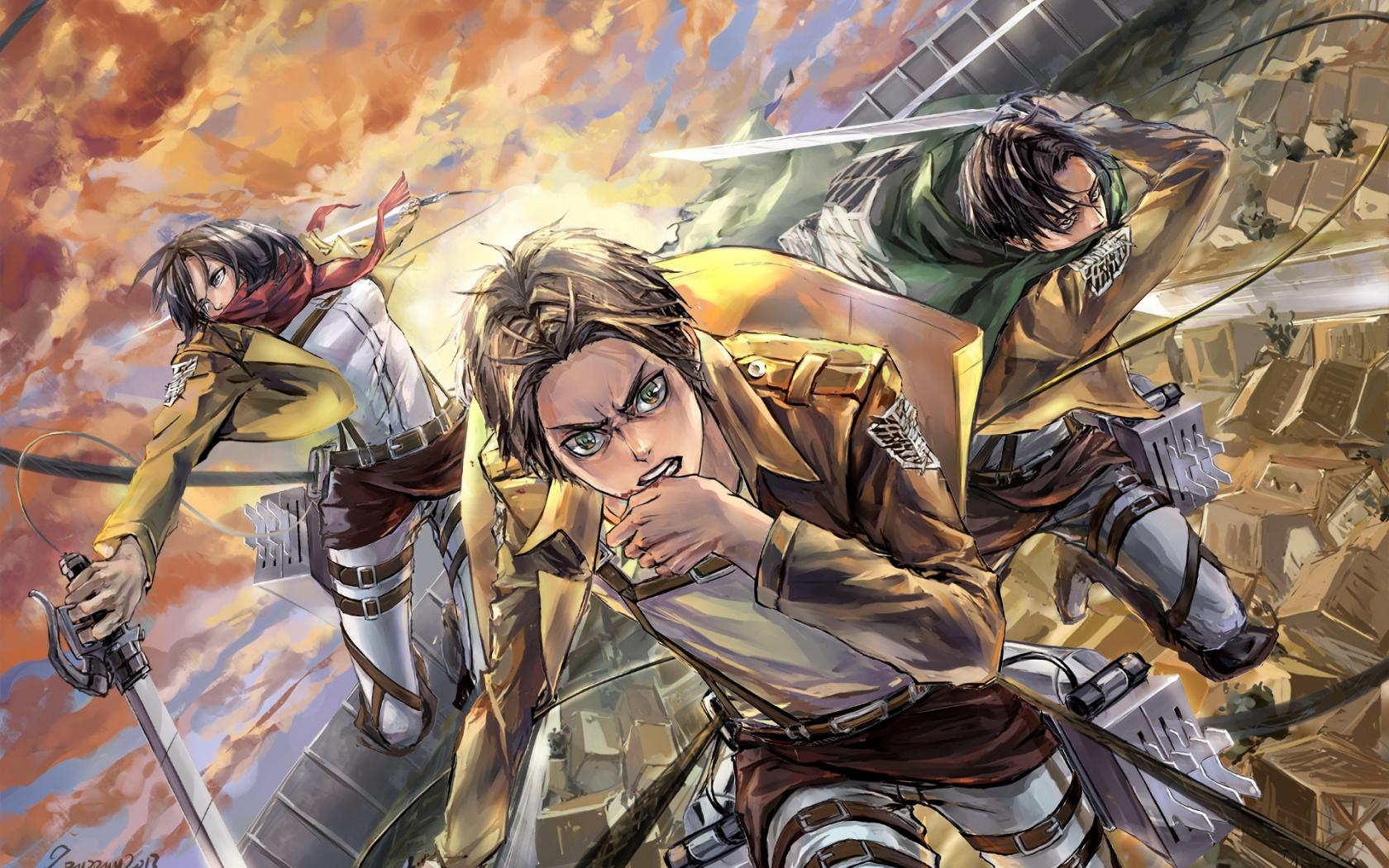 Wallpaper Mikasa Ackerman Eren Yeager Levi Ackerman Attack On Titan Wallpaper Epic 475259 Hd Wallpaper Backgrounds Download