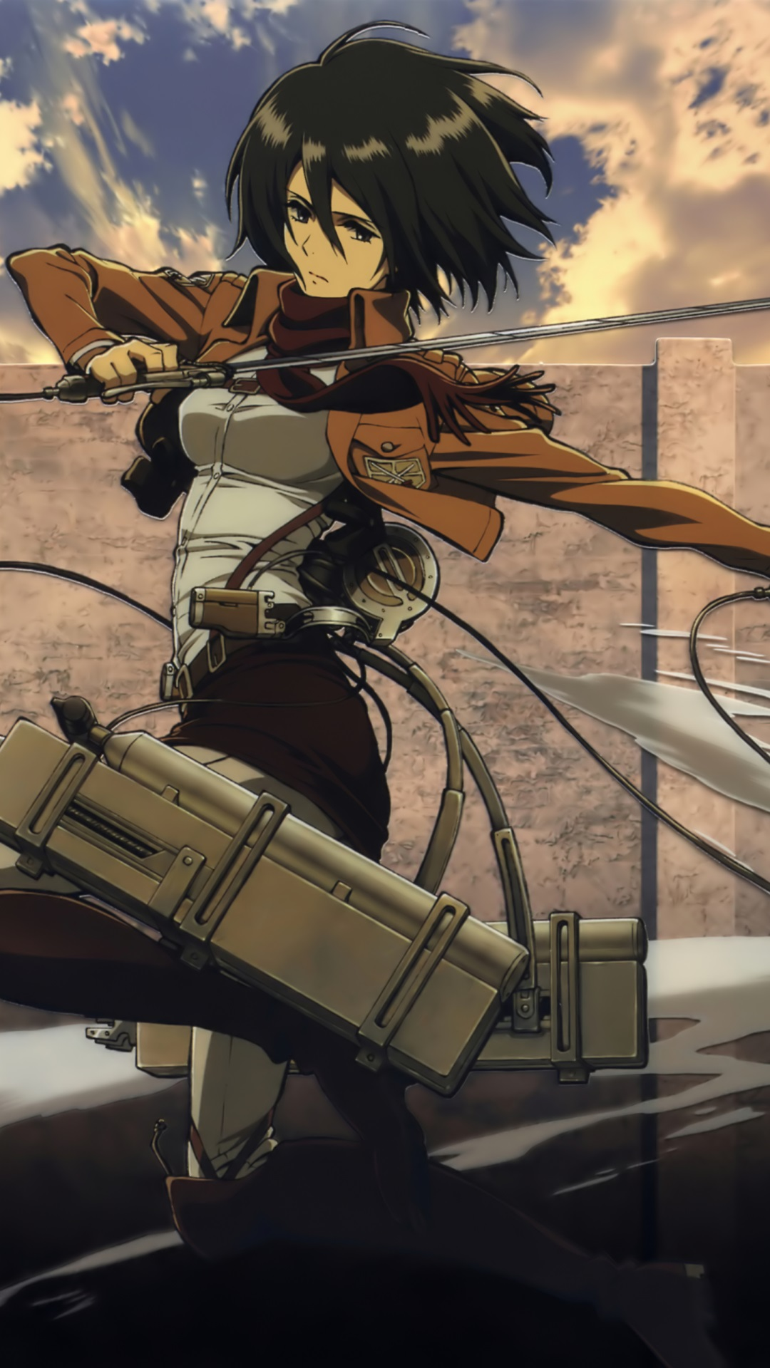Mikasa Ackerman Samsung Galaxy S4 Wallpaper Attack On