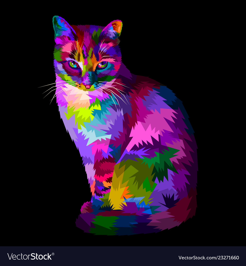 Good Colorful Cool Cat Sitting And Looking Royalty Cool Cat 479233 Hd Wallpaper Backgrounds Download