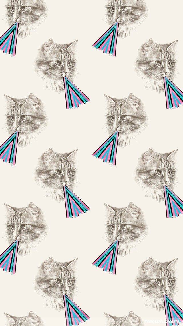 Hipster Triangle Cat Iphone Wallpaper - Android Wallpaper Cat Hd , HD Wallpaper & Backgrounds