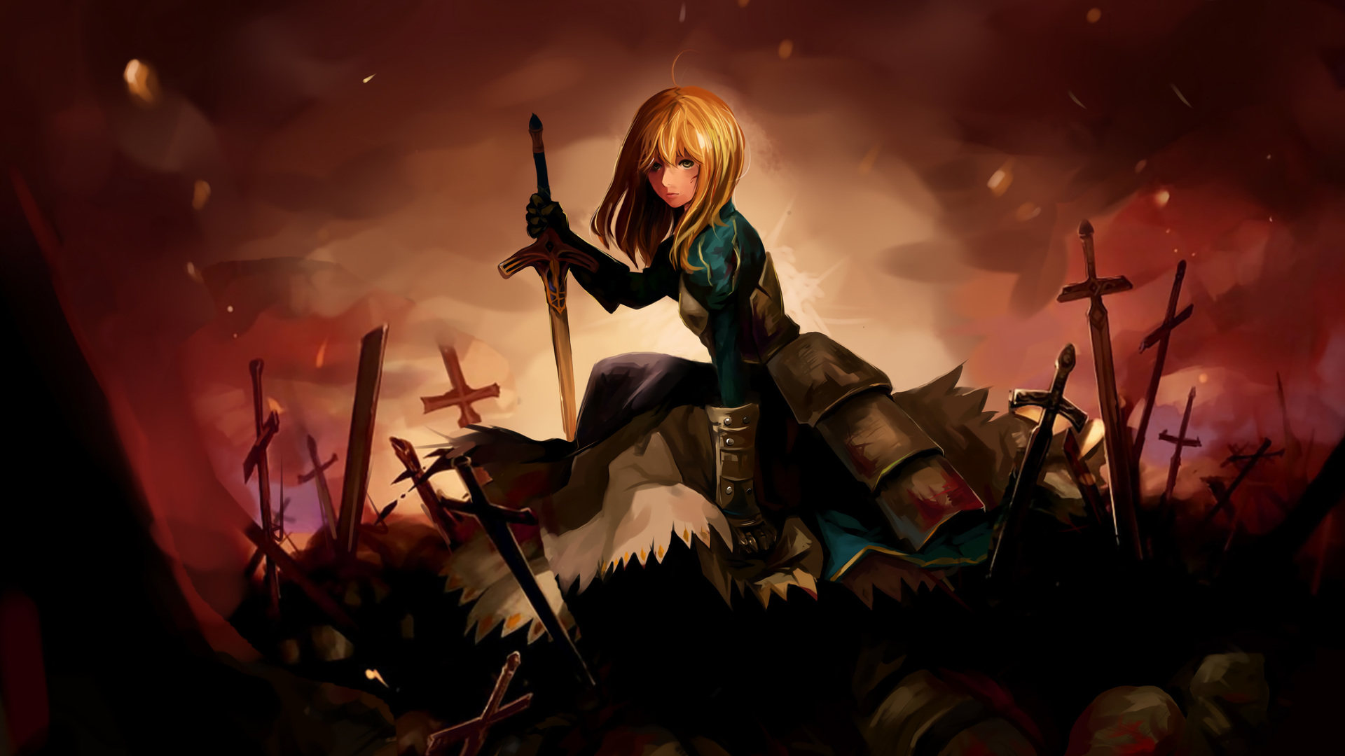 Saber Fate Stay Night Xt Fate Stay Night Saber 480400