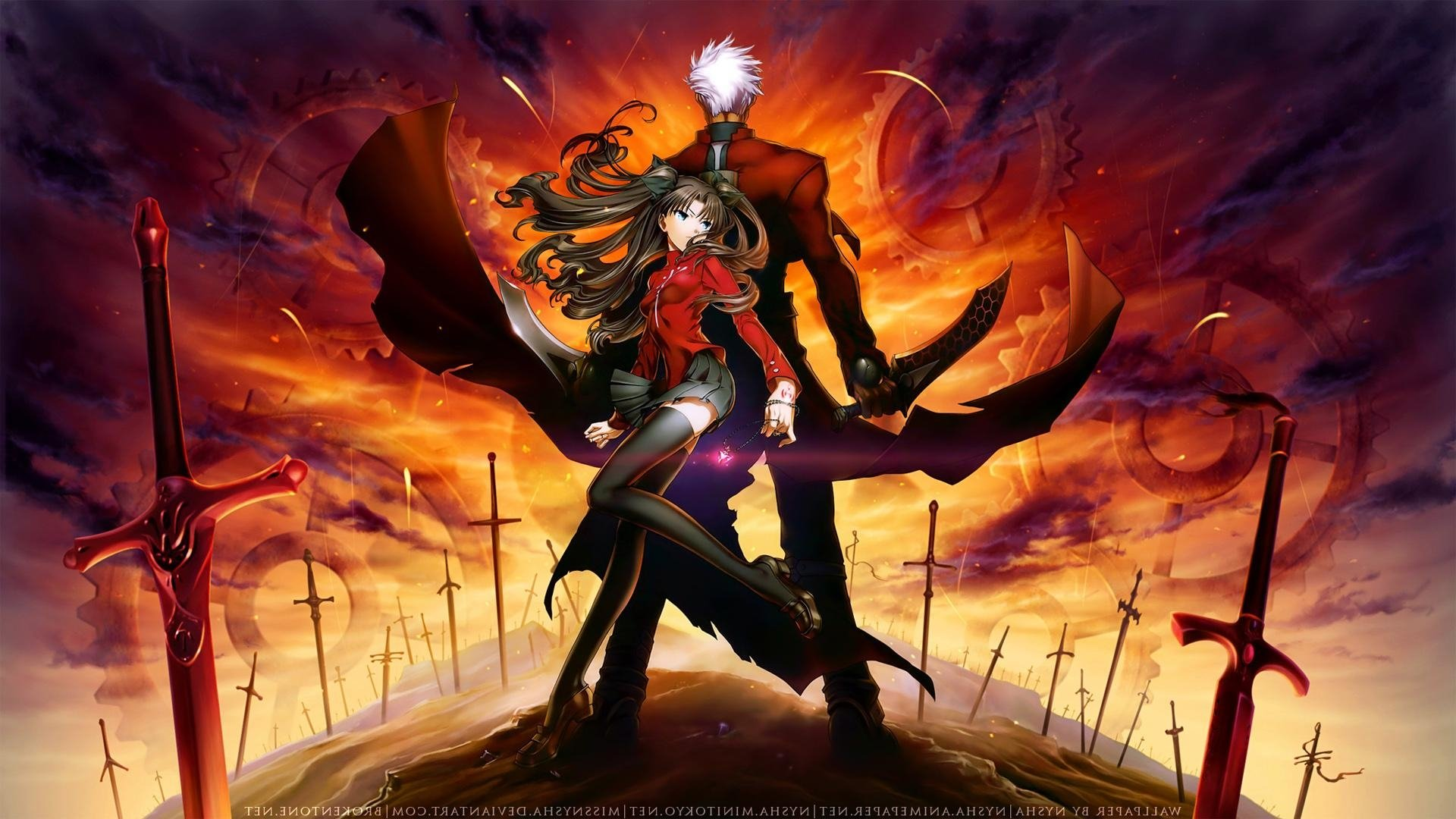 Fate Stay Night Wallpapers Widescreen Fate Rin Y Archer 480891