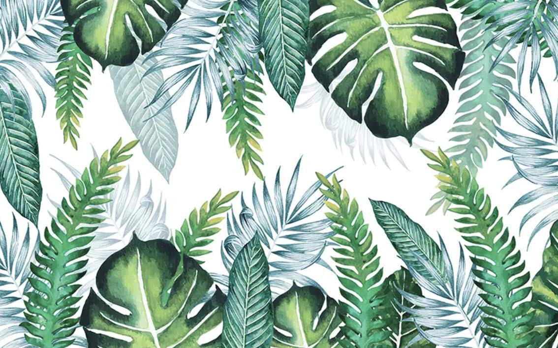Murwall Leaf Wallpaper Tropical Leaves Wall Murals Tropical Leaves 481823 Hd Wallpaper Backgrounds Download Looking for the best tropical palm leaf wallpaper? murwall leaf wallpaper tropical leaves