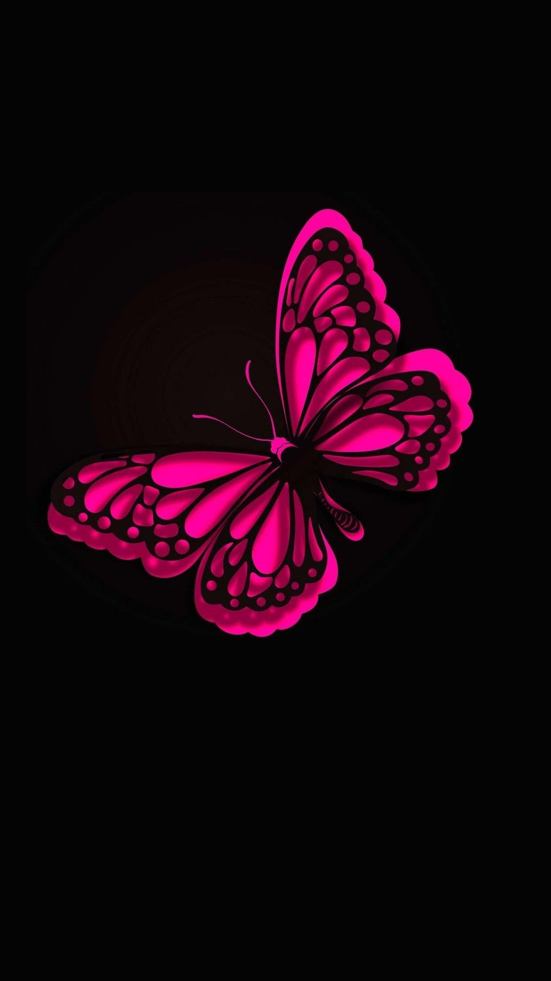 Iphone Wallpaper Hd Pink Butterfly - Black Pink Butterfly Background , HD Wallpaper & Backgrounds