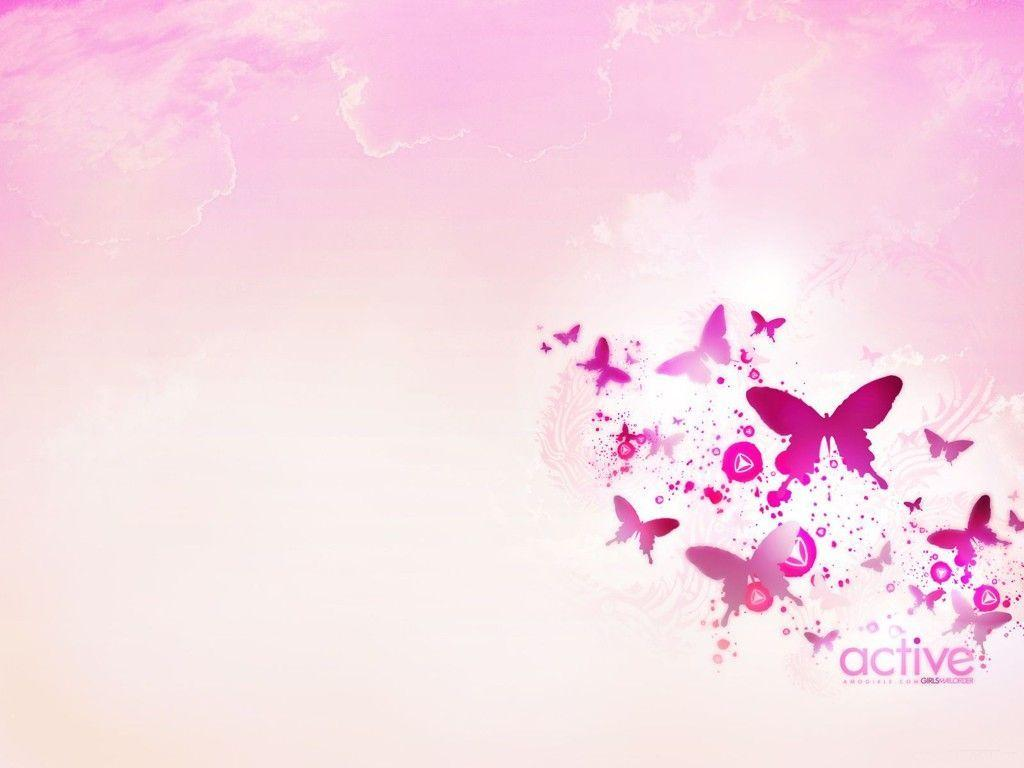 Pink Butterfly Wallpapers 9442 Hd Wallpapers In Cute - Light Pink Butterfly Background , HD Wallpaper & Backgrounds