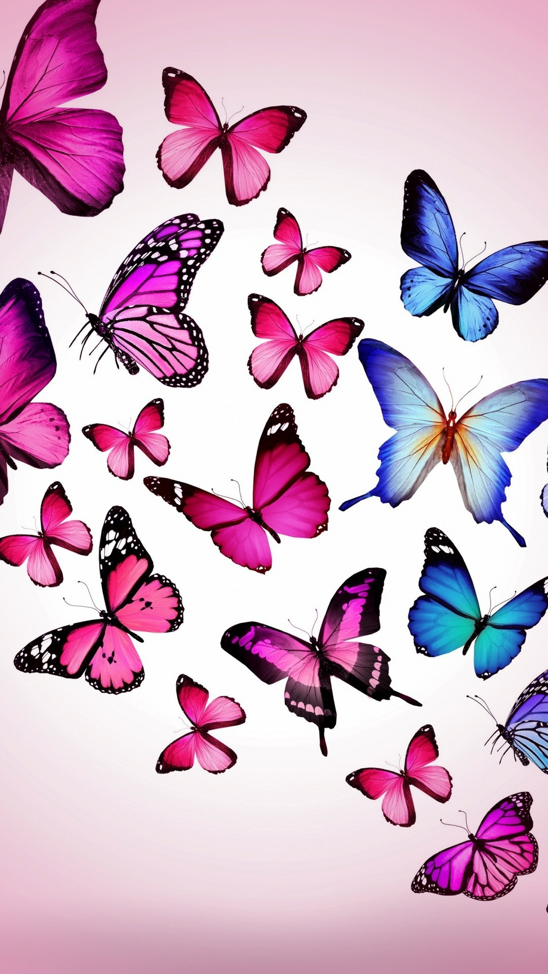 Iphone 7 Wallpaper Pink Butterfly Resolution - Phone Wallpapers Pink Butterfly , HD Wallpaper & Backgrounds
