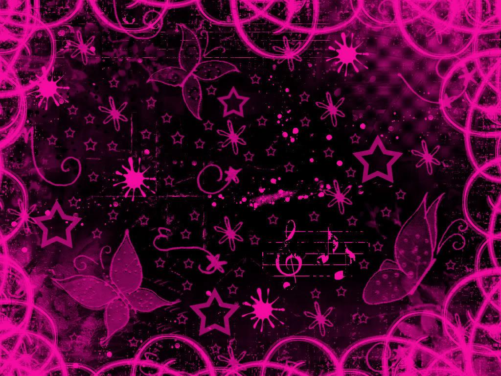 Pink Butterfly Wallpaper Desktop Background - Pink And Black Background , HD Wallpaper & Backgrounds