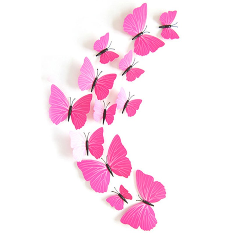 3d Pink Butterfly Stickers Wall Sticker Butterflies , HD Wallpaper & Backgrounds