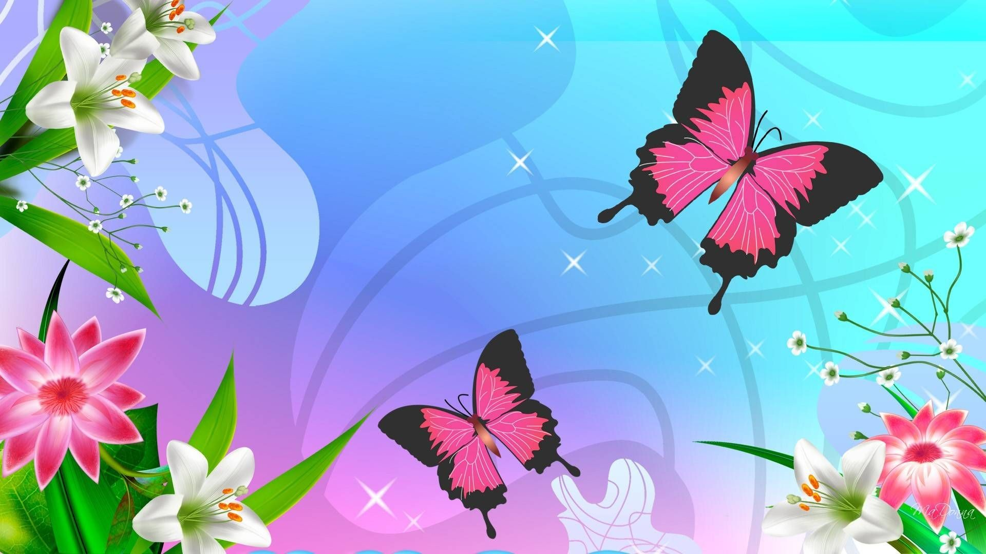 New - Cute Butterfly Backgrounds , HD Wallpaper & Backgrounds