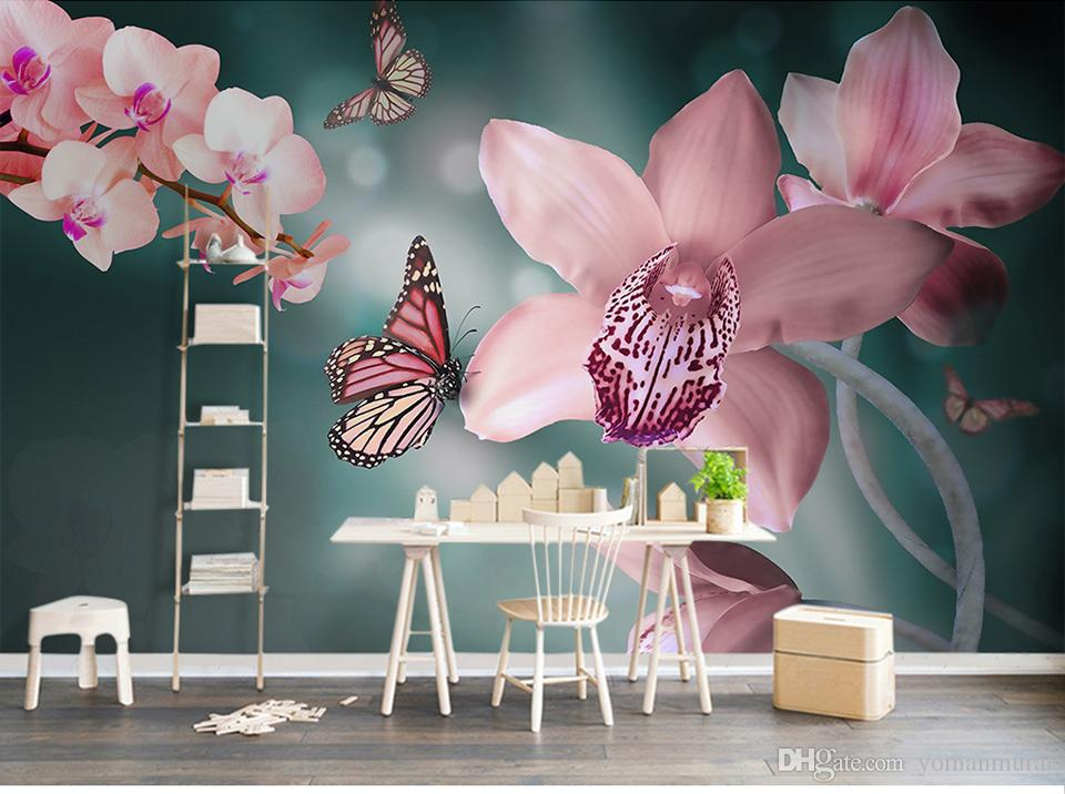 Custom Any Size Wallpaper Warm Fresh Modern 3d Pink Pink
