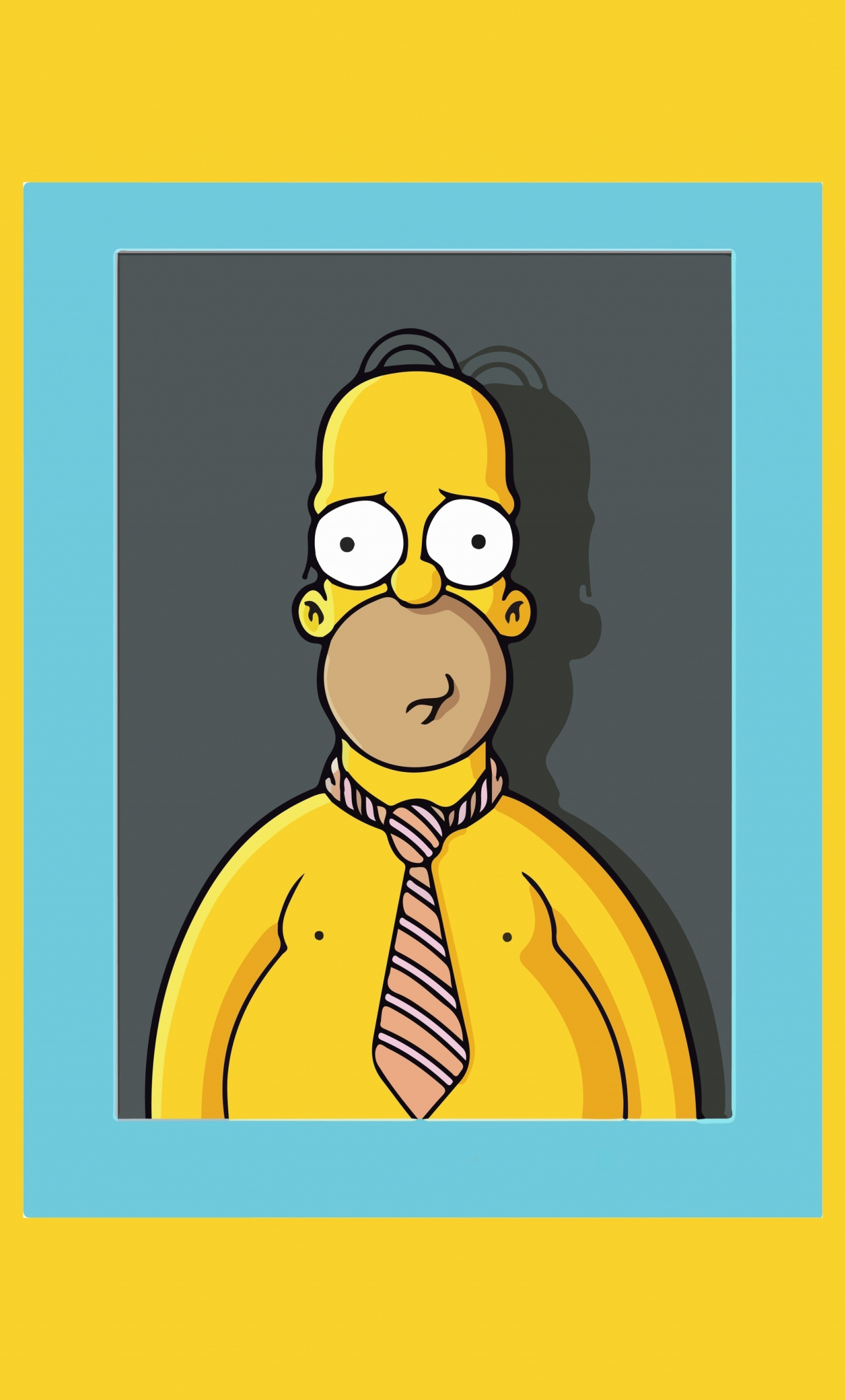 Homer Simpson, Photo Frame, The Simpsons, Animated - Simpsons Cell Phone Background , HD Wallpaper & Backgrounds