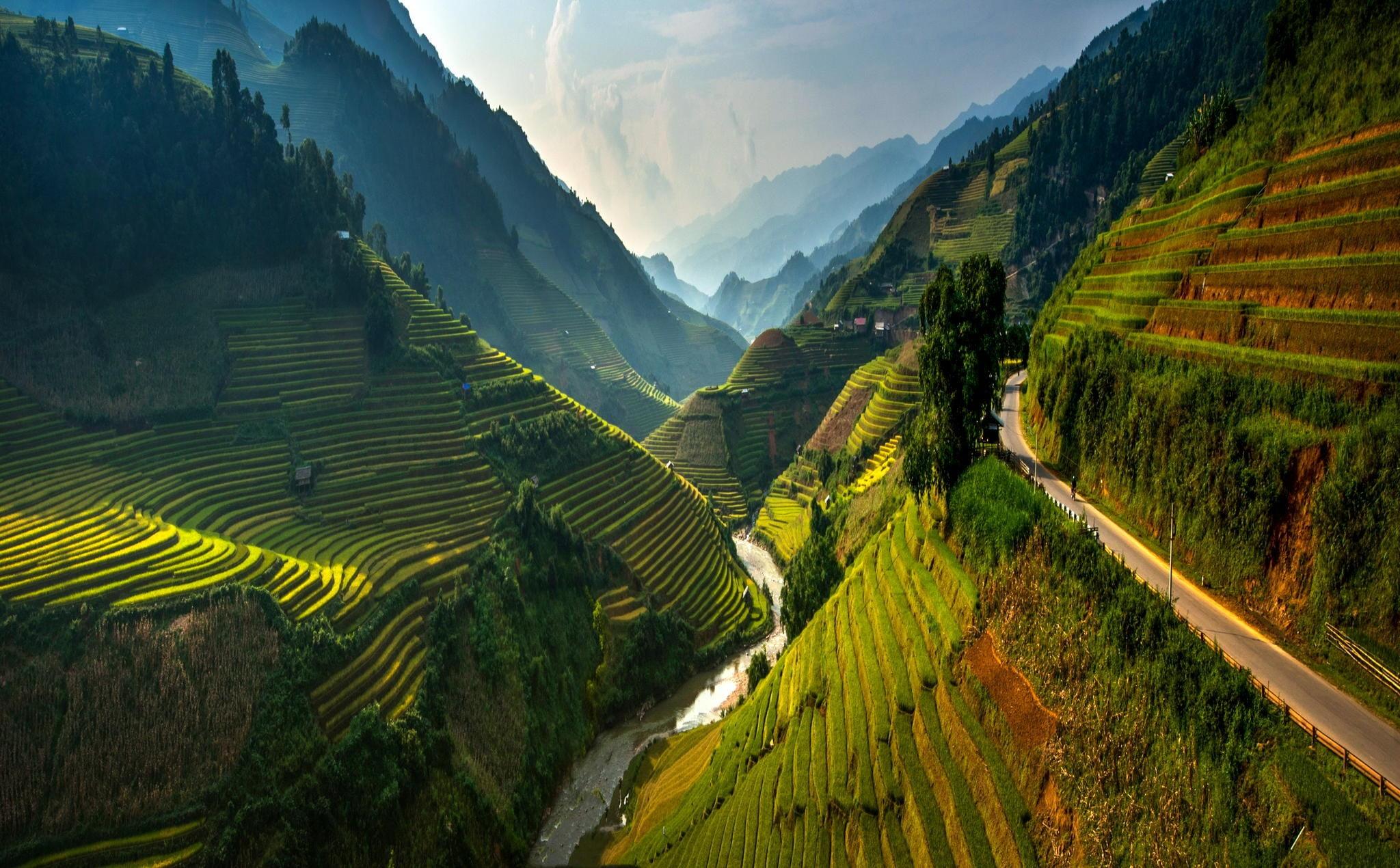 Banaue Rice Terraces, Philippines Hd Wallpaper - Vietnam Landscapes , HD Wallpaper & Backgrounds