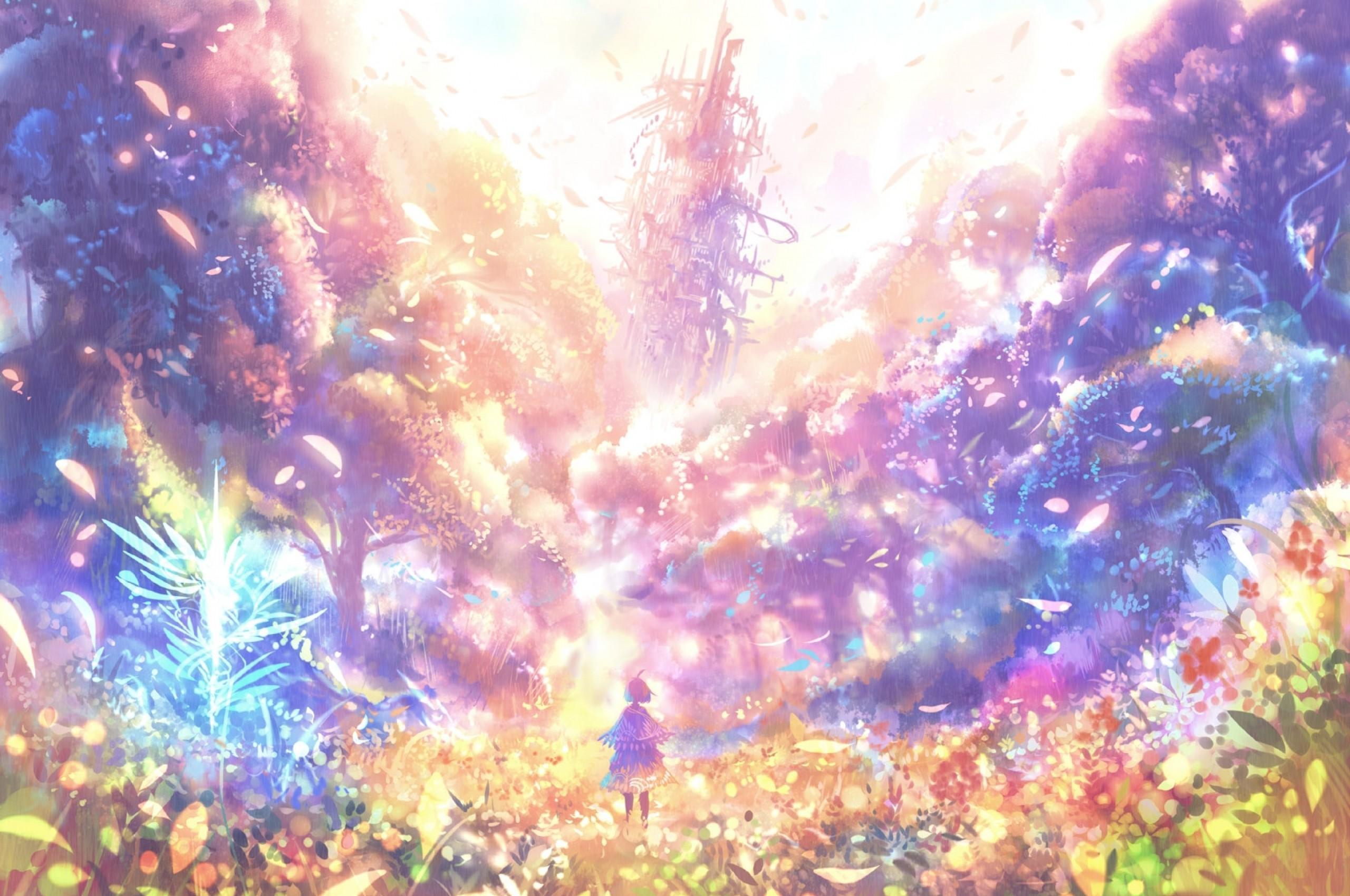 Google Chromebook Wallpaper Garden Wallpaper Anime 488466