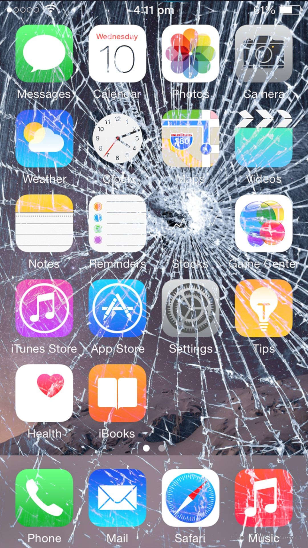 Broken Screen Wallpaper For Iphone 7 Plus Cracked Iphone Home Screen 491793 Hd Wallpaper Backgrounds Download