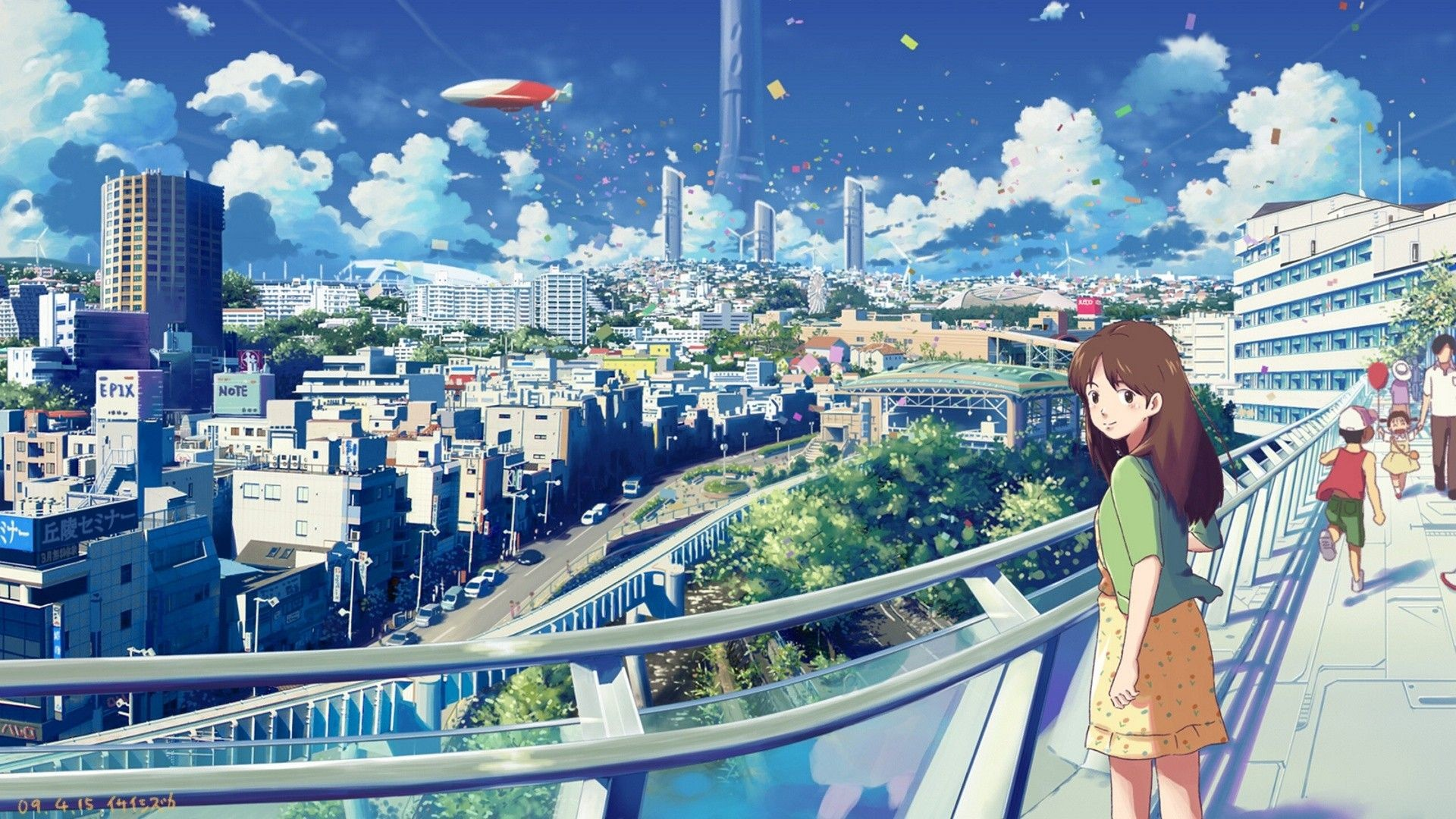 Anime Scenery Wallpaper - Anime Wallpaper City , HD Wallpaper & Backgrounds