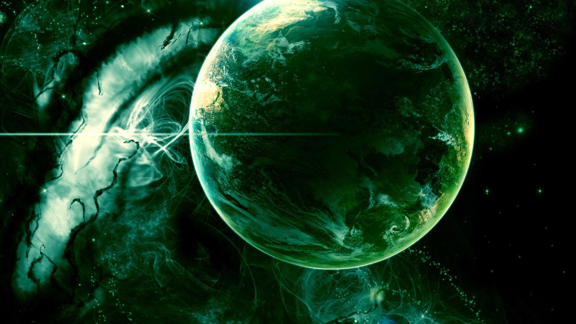 Green Galaxy Wallpaper 1080p , HD Wallpaper & Backgrounds