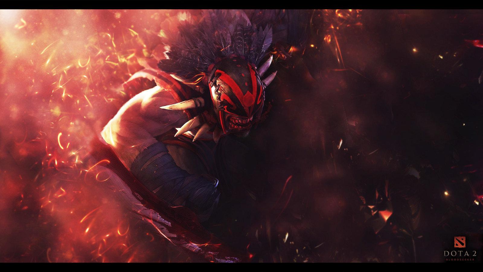 Dota 2 Bloodseeker , HD Wallpaper & Backgrounds
