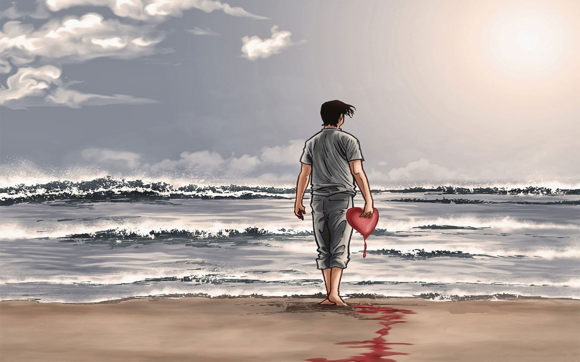 Sad Boy Broken Heart , HD Wallpaper & Backgrounds