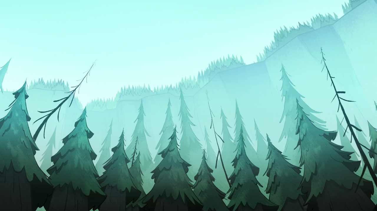 Gravity Falls Hd Quality Images - Gravity Falls Forest Background , HD Wallpaper & Backgrounds