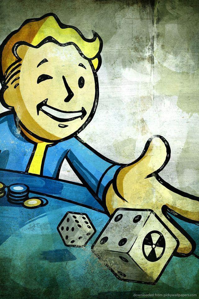 Fallout 4 Iphone Wallpaper - Vault Boy Fallout New Vegas , HD Wallpaper & Backgrounds