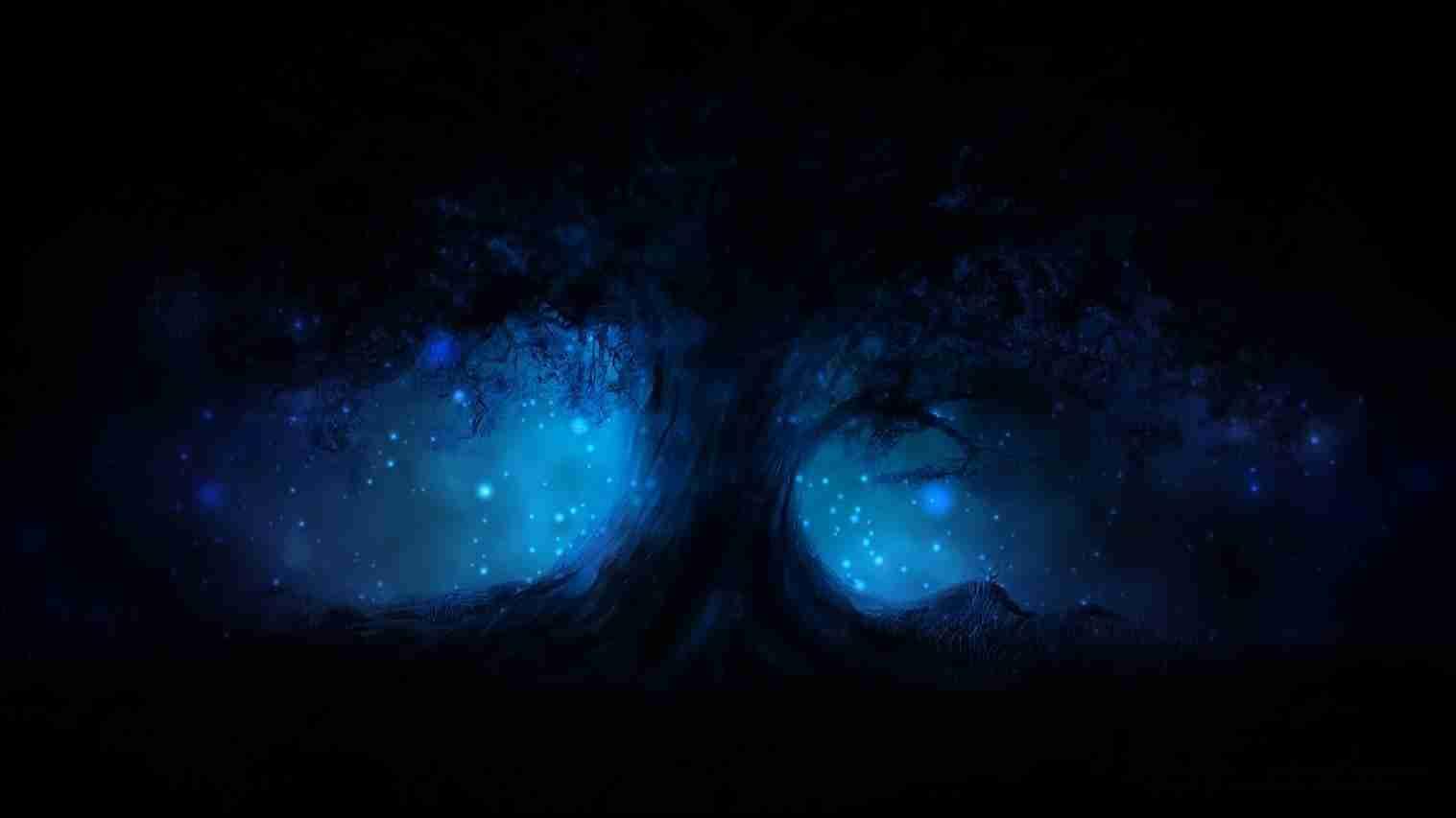 Black Aesthetic Wallpaper Blue Tree 54018 Hd