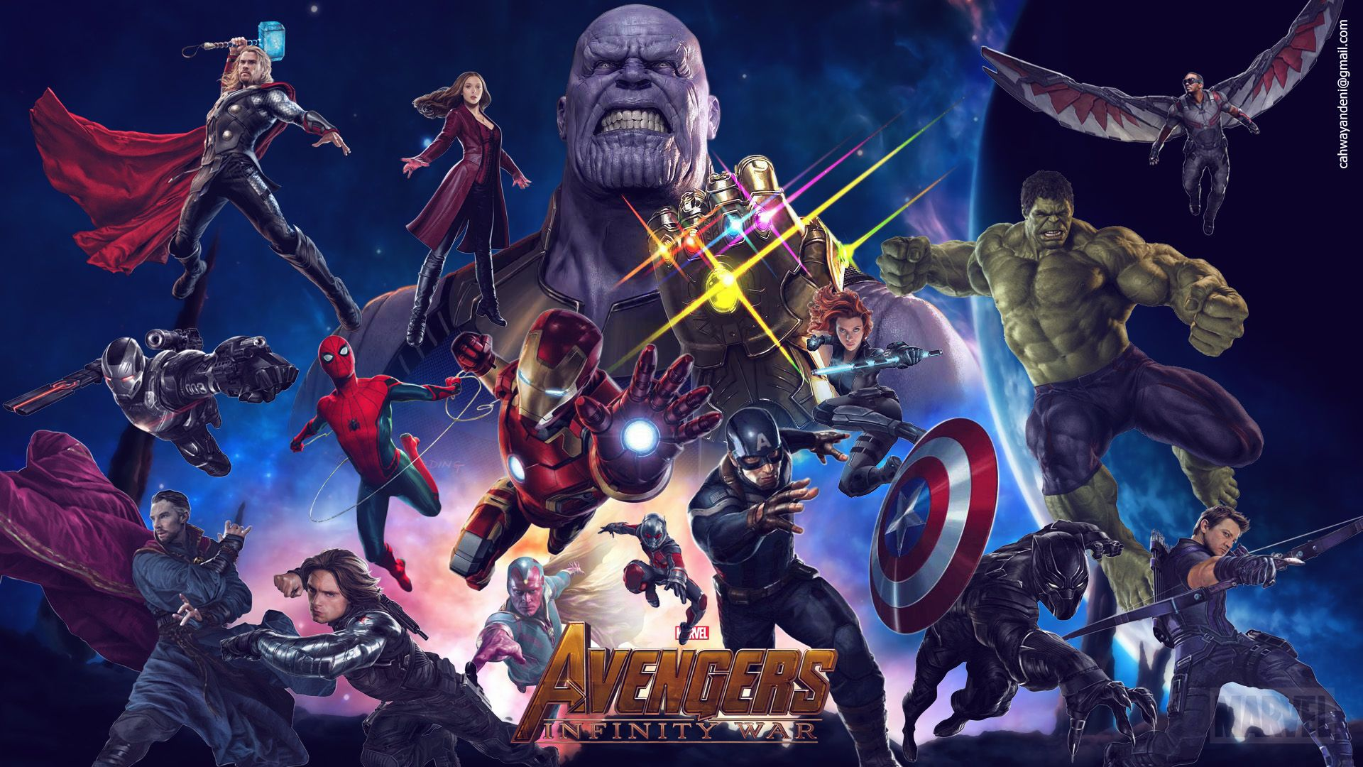 Avengers Infinity War 2018 Movie Laptop Full Hd 1080p