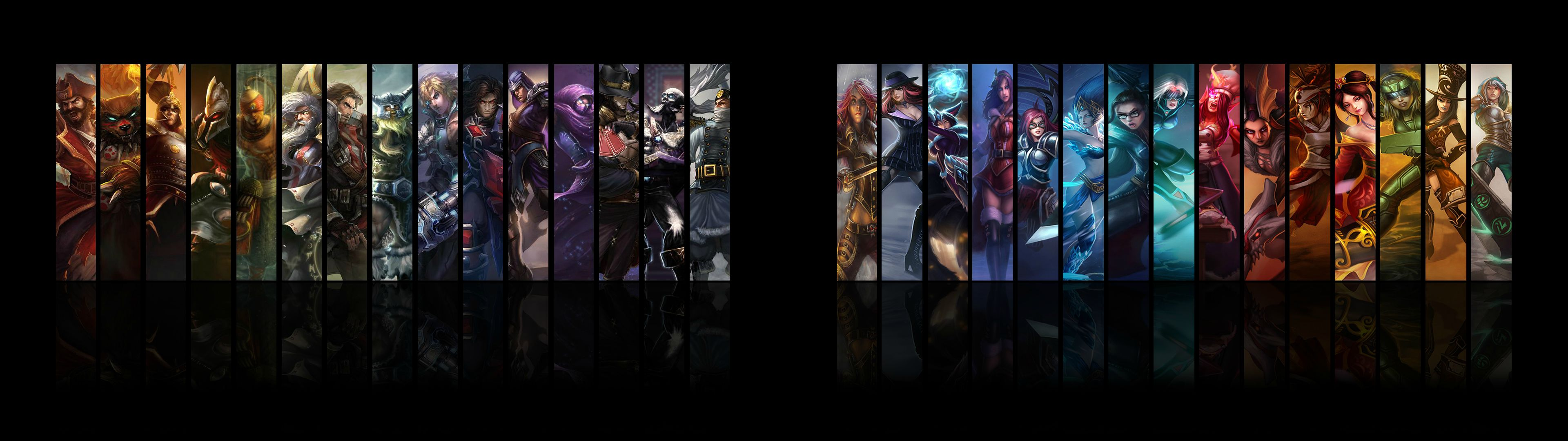 Dual Monitor Wallpaper League Of Legends League Of Legends 2