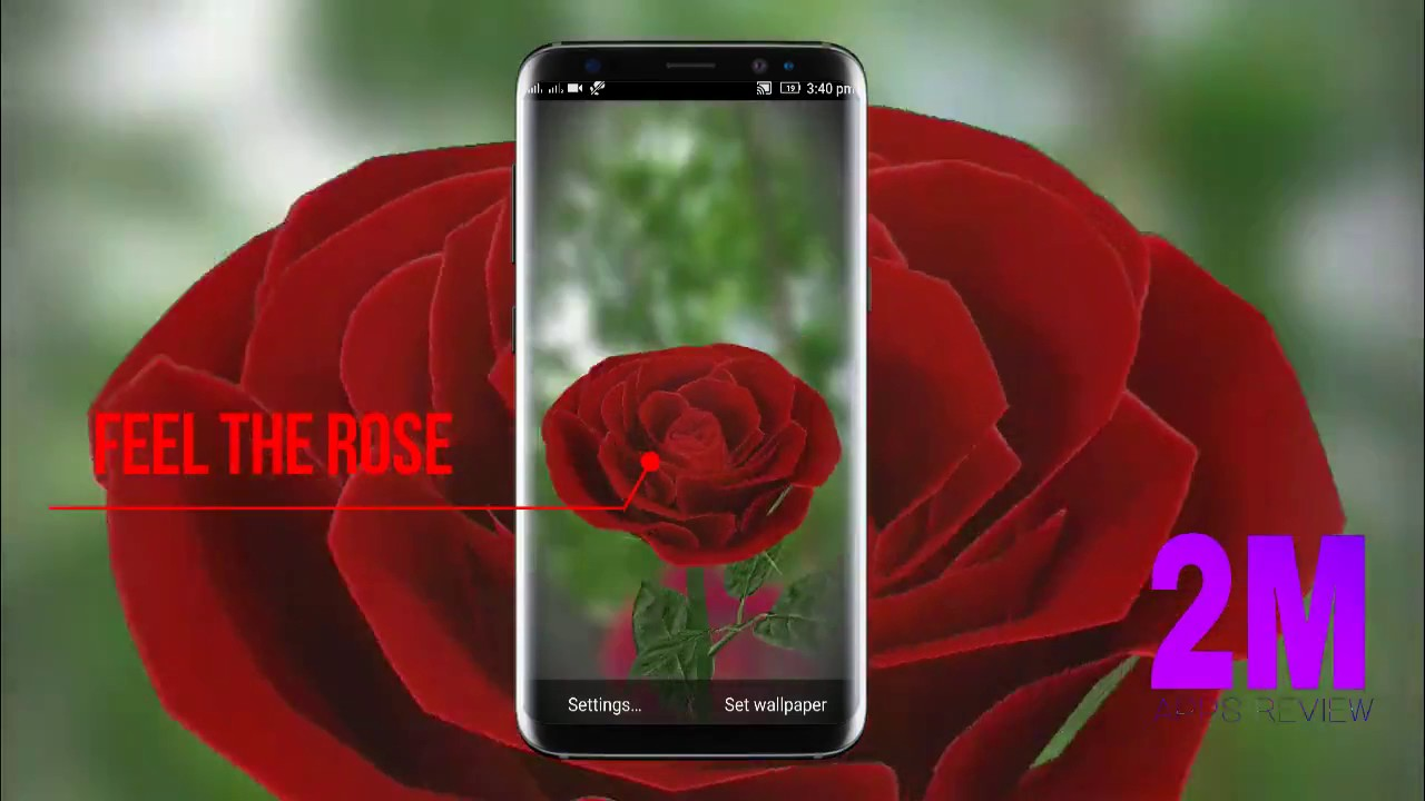 5 59312 3d rose live wallpaper smartphone
