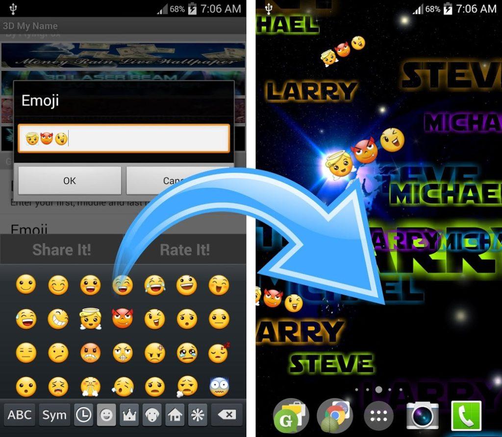 Trewzadj H900 My Name Live Wallpaper Samsung Galaxy J7 Emojis 59667 Hd Wallpaper Backgrounds Download