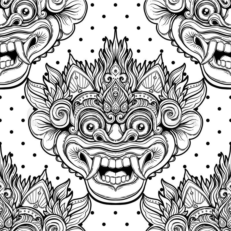 barong bali mask tattoo design 500670 hd wallpaper backgrounds download barong bali mask tattoo design