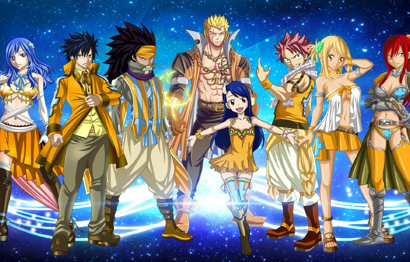 Photo Wallpaper Anime Art Characters Fairy Tail Fairy Tail