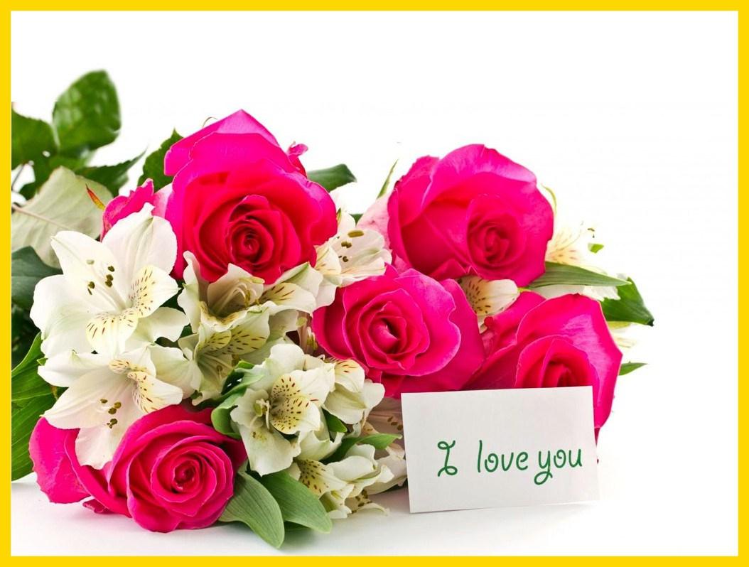 I Love You Rose Wallpaper - Love Flower Photo Download , HD Wallpaper & Backgrounds